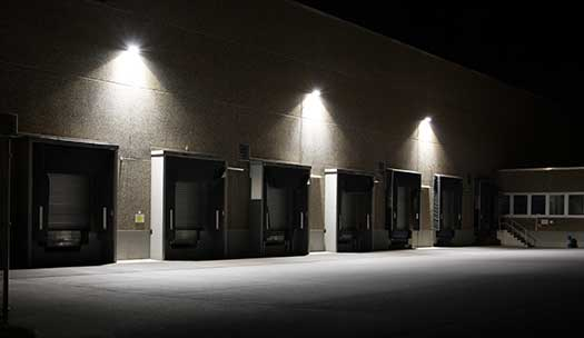 Using Lighting as Security for Businesses